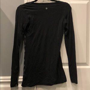 lululemon athletica Tops - black/gray reversible lululemon long sleeve